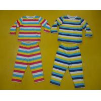Wholesale Comfy Multi Striped Kids Pajama Sets , Toddler Boys Winter Pajamas Private Label from china suppliers