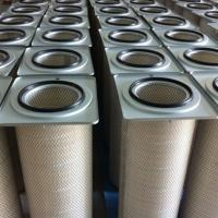 Buy cheap Air Pleated Polyester Filter Cartridge Industrial Dust Collector Support from wholesalers