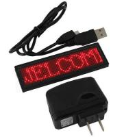 Buy cheap Global language support  Programmable 12X48 pixels scrolling message LED name tags from wholesalers