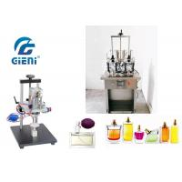 Buy cheap 4 Nozzles Semi - Auto Perfume Filling Machine 10-20bot/Min With Crimper from wholesalers