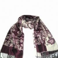Wholesale Cashmere-like Scarf, Customized Specifications are Accepted, Measures 2.23ftx5.9+0.26 inches x 2 from china suppliers