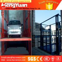Buy cheap 4-12m lifting height guide rail chain hydraulic goods ladder lifter from wholesalers