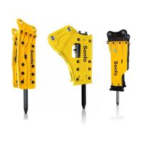 Buy cheap Different types of backhoes bobcat mini demolition excavator attachment side box top type hydraulic jack hammer from wholesalers