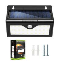 China Mini PIR Motion Sensor Solar Powered Garden Lights With 28 LED on sale