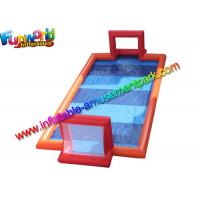 Buy cheap 46 feet Inflatable Water Football Games Field , Inflatable Sport Court With Vinyl from wholesalers