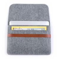 Wholesale Factory Price 11inch 13inch Felt Laptop Sleeve Bag Lightweight Leather Bags for Macbook pro air.A4 size. from china suppliers