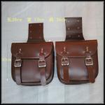 Buy cheap Cafe Racer Saddle Bag Leather Brown Black Vintage Saddle Bag Motorcycle Tool Bag 29*13*30cm from wholesalers