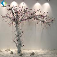 Wholesale White Trunk Pink Flower Magnolia Fake Tree , Silk Magnolia Tree 2m Height from china suppliers