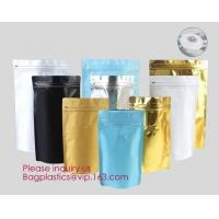 Buy cheap Online Product 135*265*75MM Stand Up Zipper Pouch Aluminum Foil Square Bottom Coffee Bags With Valve/ bagplastics bageas from wholesalers