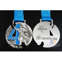 Wholesale Singing Riding Marathon Custom Sports Medals Cut Out Design 3D effect With Sublimated Ribbon from china suppliers