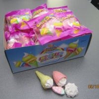 Buy cheap 4 in 1 Marshmallow/ Ice Cream+Bun+Strawberry+cake Shaped Sweet Marshmallow from wholesalers