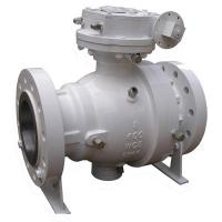 Buy cheap Full Port 2PC Trunnion Mounted Ball Valve 10 Inch Flange End With Worm Gear from wholesalers