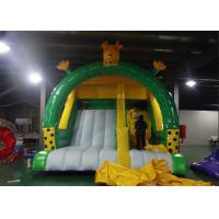 Buy cheap Yellow N Green Color Giraffe Inflatable Dry Slide Creative Design Big PVC Slide from wholesalers