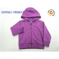 Wholesale Purple Kids Hooded Jacket Long Sleeve Baby Boy Hooded Jacket With Separated Cuff from china suppliers