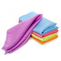 Buy cheap microfiber glass cleaning towel household clean cloths from wholesalers