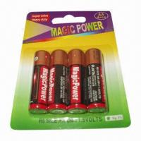 Buy cheap Zn/MnO2 dry-cell batteries with aluminum jacket from wholesalers