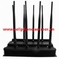 Buy cheap 8 Bands Adjustable All Frequency 3G 4G Wimax Phone Blocker WiFi Jammer & GPS VHF UHF Jammer (European Version) from wholesalers