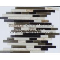 Wholesale Strip Light Emperador Mix Glass Mosaic Tile Canada Hit from china suppliers