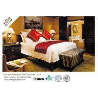 Buy cheap Commercial Dark Walnut Veneer Full Size Wood Bed For 5 Star Hotel from wholesalers