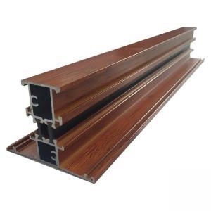 Wholesale T Shape Broken Bridge Wood Finish Aluminium Profiles For Glass Window and Door 6000 Series Aluminum Extrusion from china suppliers