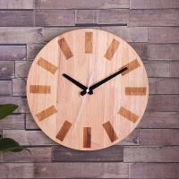 Buy cheap Custom Hang On Wooden Clock Simple Round Shape for Home Decoration from wholesalers