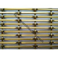 China Rigid Metal Mesh Panels , Architectural Woven Metal Mesh For Decoration on sale
