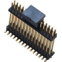 Buy cheap WCON SMT Dual Row Male Pin Header Connector 1.27mm Pitch Black from wholesalers
