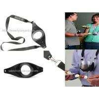 Buy cheap Custom Drink Sling Wine Glass Holder Lanyard with Double Metal Clips from wholesalers