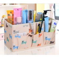 Wholesale Sewing Multifunctional Foldable Nylon Beige Storage Boxes Home Furniture Use from china suppliers