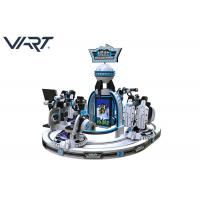 China White Color Electric Platform 4 Players Children Virtual Reality Machine With VR Glasses on sale
