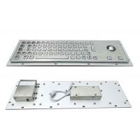 Buy cheap 64 Keys Panel Mount Industrial Keyboard With Trackball Cabinet Kiosk Application from wholesalers