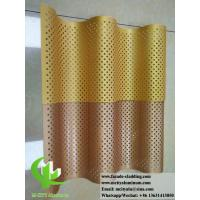 Buy cheap Corrugated Perforated Metal Cladding Panels / Aluminium Facade Panels from wholesalers