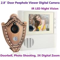 "Wholesale 2.8"" LCD Screen Digital Door Peephole Viewer Camera IR LED Night Vision Home Security Door Eye Electronic Doorbell Alarm from china suppliers"