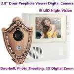 "2.8"" LCD Screen Digital Door Peephole Viewer Camera IR LED Night Vision Home Security Door Eye Electronic Doorbell Alarm Manufactures"