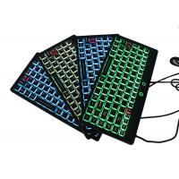 Buy cheap IP68 Fully - Sealed Silicone Keyboard Mini Size USB Interface With Illuminated Backlit from wholesalers
