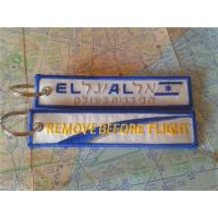 EL AL Remove Before Flight Keyring Custom Embroidery Keychain With Metal Ring Manufactures