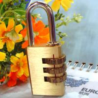 Wholesale 3 Digits Brass Combination Padlock Brass Lock CR-04B from china suppliers