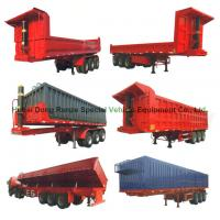 Buy cheap Heavy Duty U Shape End Tipping Rear Dump Semi Trailer For Truck 35 - 45 Ton from wholesalers