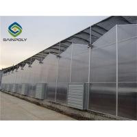 Buy cheap Hollow 120km/H PC Sheet Greenhouse Hot Galvanized Steel Frame from wholesalers
