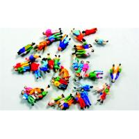 Colorful Architectural Scale Model People Painted Figures 1.3cm