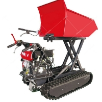 Buy cheap High qualit Mini Multiple Rubber Crawler Chain Dump 500kg Hydraulic handheld lifting Transport Vehicle Tracked Dumper ro from wholesalers
