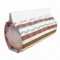 Buy cheap Round-shaped cosmetic bag with mesh bag and patent PVC magnetic closure from wholesalers