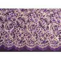 Multi-colors Embroidery Beaded Lace Fabric With Nylon + Polyester CY-XP0007