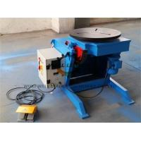 Light Duty Rotary Welding Positioner , Welding Rotating Table For Tube Welding Industry Manufactures