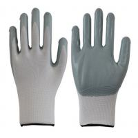 Buy cheap 13g white gray color nylon nitrile coated gloves nitrile safety work gloves from wholesalers