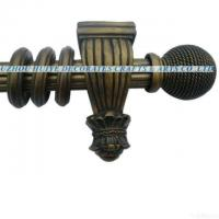 Buy cheap 2011 Hot Selling Design Reeded Curtain Pole With Resin Finials from wholesalers