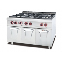 Buy cheap Stainless Steel 5.8kW Six Burner Gas Stove Kitchen Equipment from wholesalers