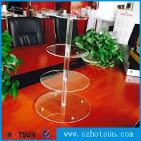 Buy cheap Customized modern style 4 tier round plexiglass cake stand,acrylic cupcake stand wholesale from China from wholesalers