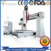 China Professional 5 axis cnc wood machine for 3D products TM6090-5axis. threecnc on sale