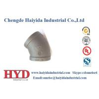 Buy cheap Elbow 45 malleable iron pipe fitting cast iron factory from wholesalers